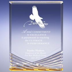 Personalized Gold Vision Eagle Award