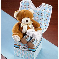 It's a Boy Teddy Bear Gift Set
