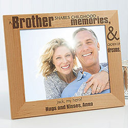 Special Brother 8x10 Personalized Photo Frame