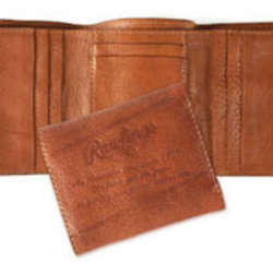 Brown Vegetable Tan Leather Trifold Wallet