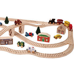 Wooden Town Toy Train Boxed Set