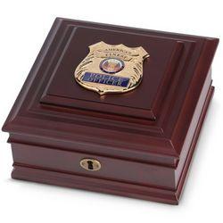 Police Medallion Desktop Box