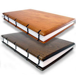 Handcrafted Wood Guest Book or Journal