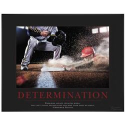 Determination Baseball Slide Motivational Poster