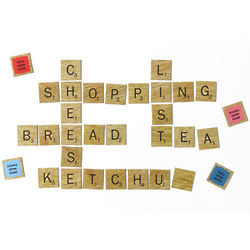 Scrabble Tiles Fridge Magnets