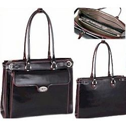 Italian Leather Feminine Briefcase