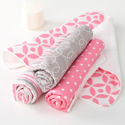 Trendy Baby Girl Burp Cloths