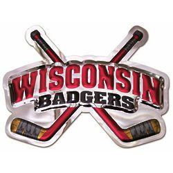 Wisconsin Badgers Hockey Metal Wall Hanging