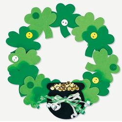 Foam Shamrock Wreath Craft Kit