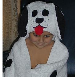 Dalmatian Hooded Towel