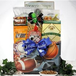 Armchair Athlete Gourmet Birthday Sports and Snacks Gift Basket