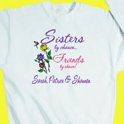 Personalized Sisters by Chance Sweatshirt