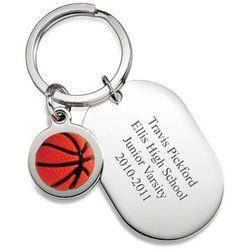 Personalized Dog Tag Basketball Keyring