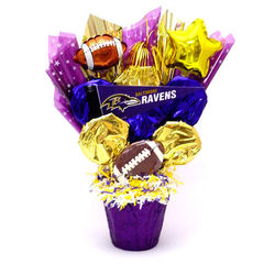 Baltimore Ravens Cookie Pot Bouquet