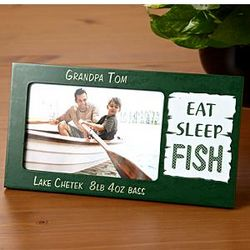 Personalized Eat, Sleep, Fish Frame
