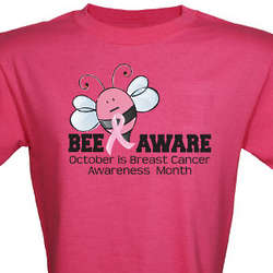 Bee Aware Breast Cancer Awareness T-Shirt