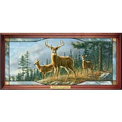 Whitetail Deer Illuminated Stained-Glass Wall Decor