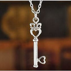 Irish Claddagh Key to My Heart Sterling Silver Pendant