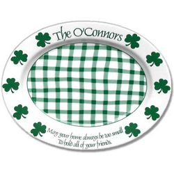 Personalized Irish Shamrock Celebration Platter