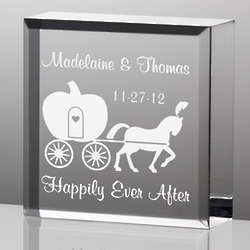 Personalized Tiny Treasures Happily Ever After Paperweight