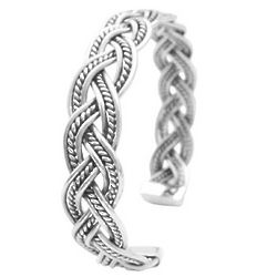 Sterling Silver Twisted Wire Cuff Bracelet