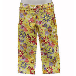 Girl's Yellow Flower Pants