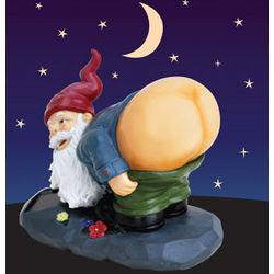 Solar Mooning Garden Gnome