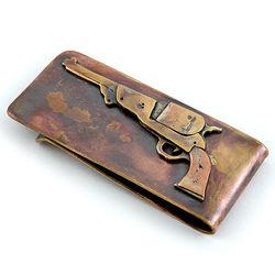 Classic Revolver Bronze Money Clip