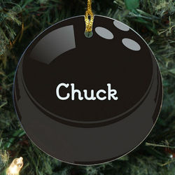 Bowling Ball Personalized Ceramic Ornament