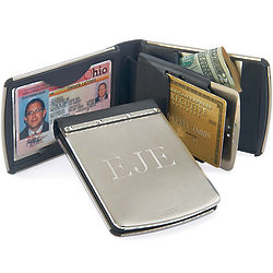 Zippo Personalized Stainless Steel Wallet