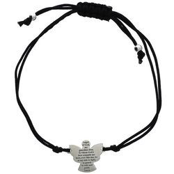 Silver Angel Cord Bracelet