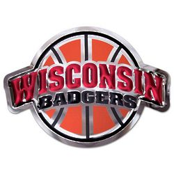 Wisconsin Badgers Basketball Metal Wall Hanging