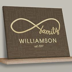 Personalized Infinity Wall Canvas Art Print