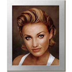Cameron Diaz Oil Painting Giclee