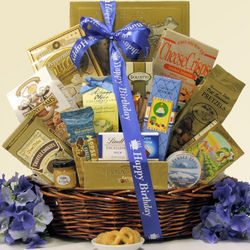 Best Wishes Sweet and Salty Gourmet Birthday Gift Basket