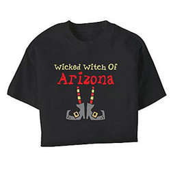 "Personalized ""Wicked Witch of Anywhere"" Halloween T-Shirt"