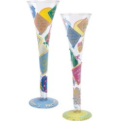 New Mommy & Daddy Champagne Glasses