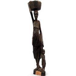 Working Woman Ebony Statuette