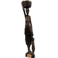 Working Woman Ebony Statuette