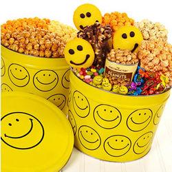 3-Way Smiley Popcorn 2 Gallon Tin