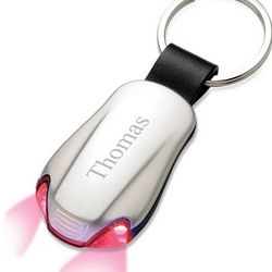 Personalized Car Keyring with Red LED Lights