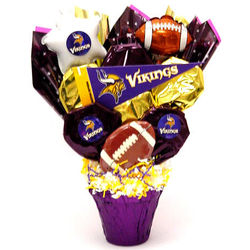 Minnesota Vikings Cookie Pot Bouquet