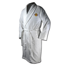 Los Angeles Lakers Terrycloth Logo Bathrobe in White