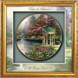 Thomas Kinkade Blessings of Faith Framed Plate