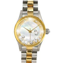 Timeless Magic Floating Crystal Mickey Silhouette Watch