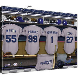 Personalized Canvas MLB Locker Room Print