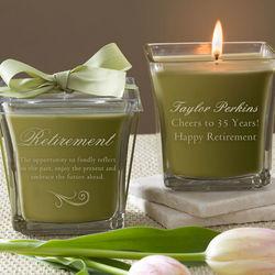 Personalized Papaya & Bamboo Retirement Candle