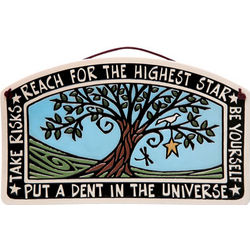 Reach for the Highest Star Art Pottery Plaque