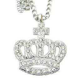 Diamante Hip Hop King Crown Pendant