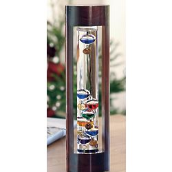 Wood Framed Liquid Galileo Thermometer